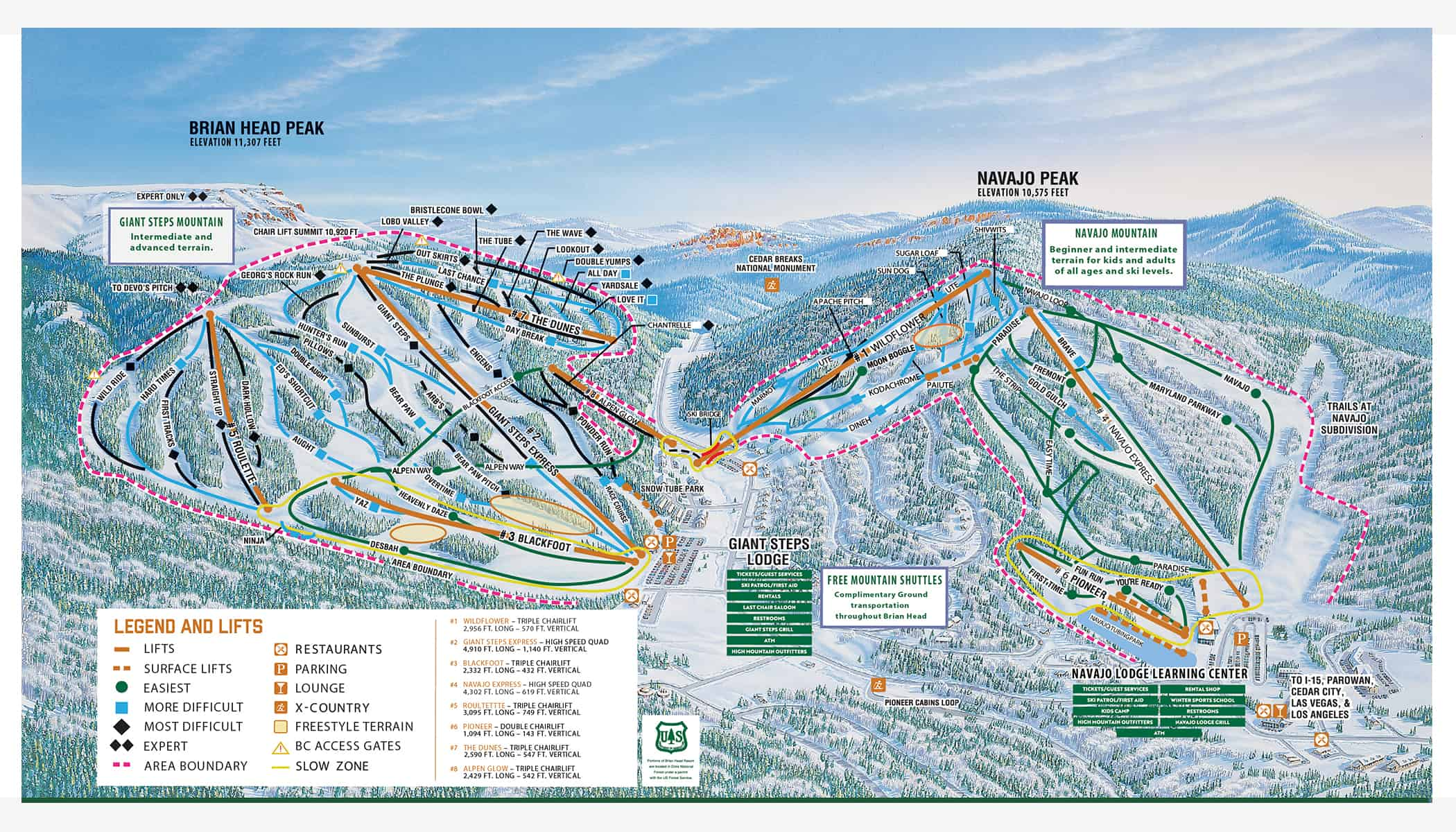Brian Head Ski Resort Trail Map
